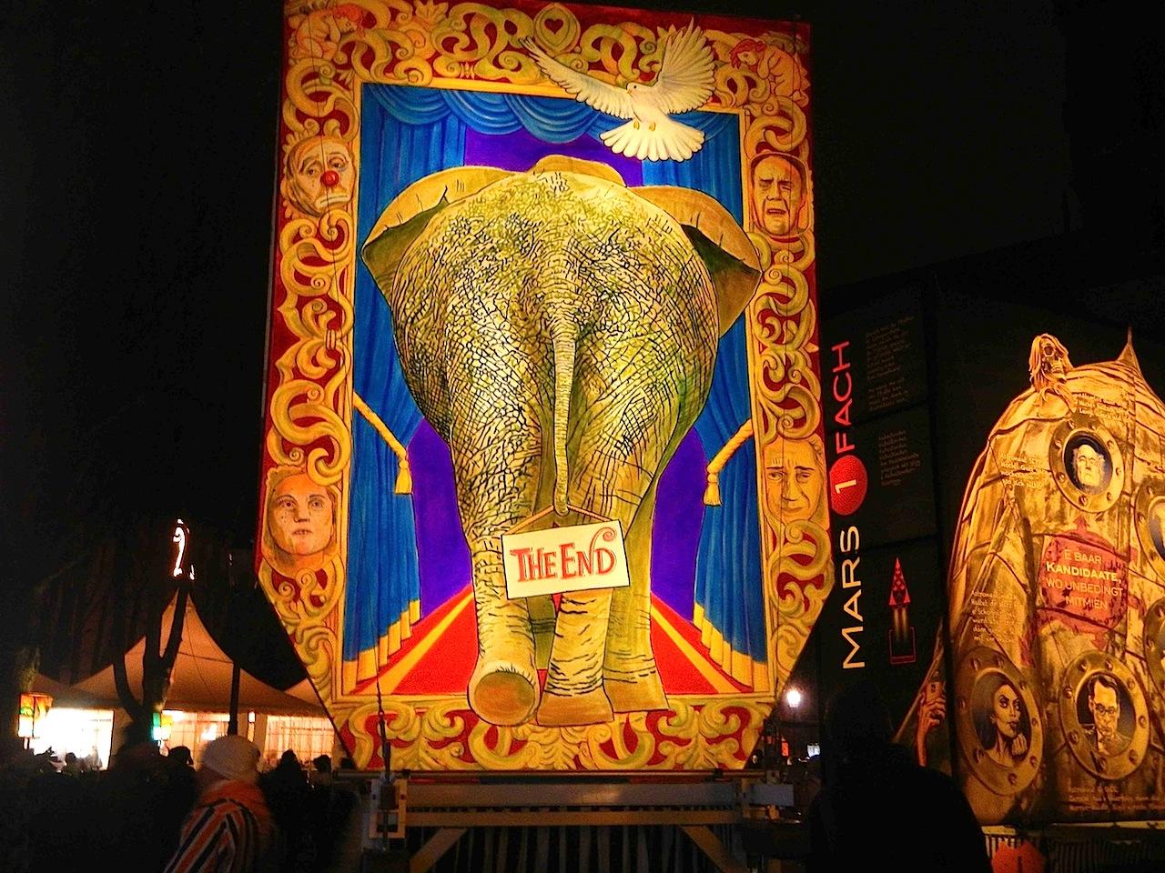 Sans Gêne, Stamm Abschied von den Zirkus-Elefanten und der damit verbundenen Poesie